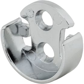 Держатель для трубы 25 мм, цвет хром, 2 шт.