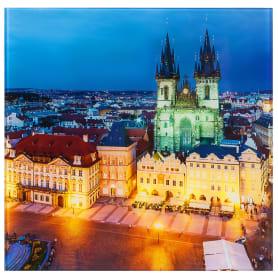 Картина на стекле 30х30 см «Прага Чехия»