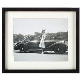 Постер в раме 33х40 см «Девушка и автомобиль»