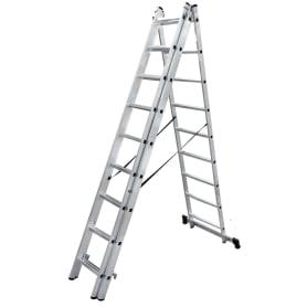 Лестница раскладная трёхсекционная Standers 9 ступеней