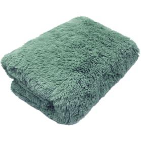 Плед декоративный 200х220 см, искусственный мех, цвет зелёный