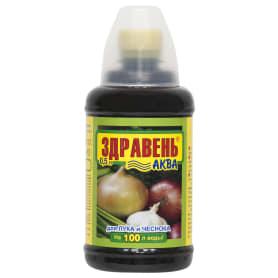 Удобрение «Здравень Аква» для лука и чеснока 0.5 л