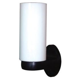 Цилиндр-бра 1xE27х60 Вт, стекло/пластик, цвет опал/чёрный