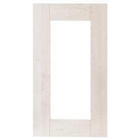 Витрина для шкафа Delinia «Фрейм светлый» 40x70 см, ЛДСП, цвет белый