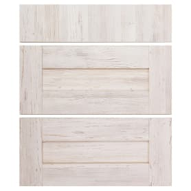 Двери для шкафа Delinia «Фрейм светлый» 60x70 см, ЛДСП, цвет белый, 3 шт.