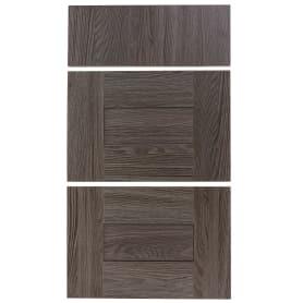 Двери для шкафа Delinia «Фрейм тёмный» 40x70 см, ЛДСП, цвет коричневый, 3 шт.