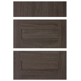 Двери для шкафа Delinia «Фрейм тёмный» 60x70 см, ЛДСП, цвет коричневый, 3 шт.