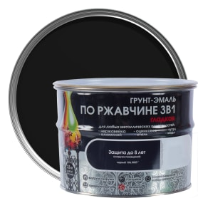 Грунт эмаль по ржавчине 3 в 1 гладкая Dali Special цвет черный 2.5 кг