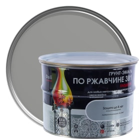 Грунт эмаль по ржавчине 3 в 1 гладкая Dali Special цвет серебристый 2.5 кг