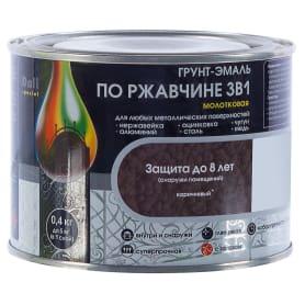 Грунт эмаль по ржавчине 3 в 1 молотковая Dali Special цвет коричневый 0.4 кг