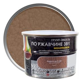 Грунт эмаль по ржавчине 3 в 1 молотковая Dali Special цвет медный 2.5 кг