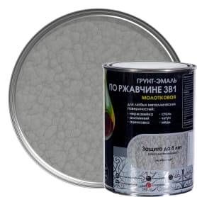 Грунт эмаль по ржавчине 3 в 1 молотковая Dali Special  цвет серебристый 0.8 кг
