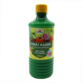 Удобрение Гумат калия для сада и огорода «Долина плодородия» 0.5 л