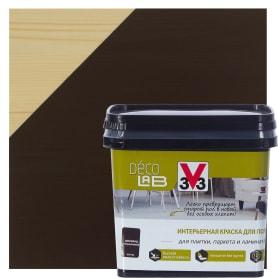 Краска для пола V33 Decolab 0.75 л цвет шоколад