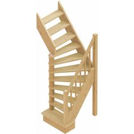 Лестница поворотная на 90° ЛС-91, универсальная