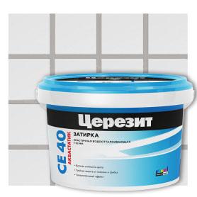 Затирка цементная Ceresit CE 40/2 водоотталкивающая цвет серебристо-серый