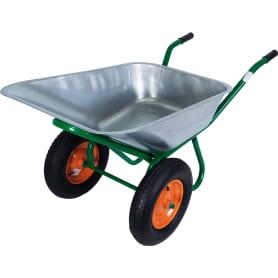 Тачка садовая двухколесная усиленная 320 кг/100 л