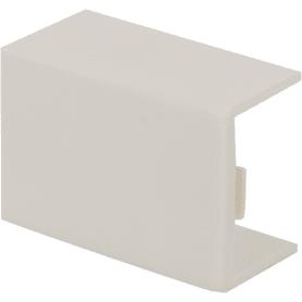 Соединение на стык 15/10 мм цвет белый 4 шт.