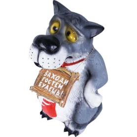 Фигура садовая «Волк с табличкой в галстуке» высота 60 см