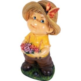 Фигура садовая «Мальчик с цветами» высота 48 см