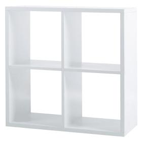 Стеллаж 4 секции 70x70x31 см, цвет белый