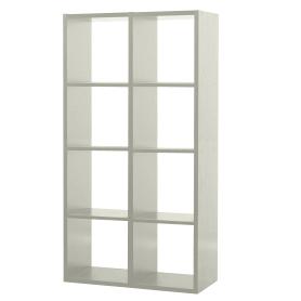 Стеллаж 8 секций 70x137x31 см, ЛДСП, цвет белый