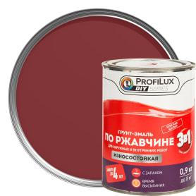 Эмаль по ржавчине 3в1 цвет красный 0.9 кг