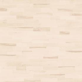 Паркетная доска трёхполосная «Бук белый ВК» лак 1.58 м2