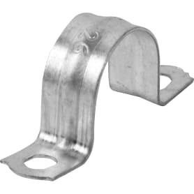 Скоба оцинкованная Iek с двойным отверстием D20 мм 10 шт.