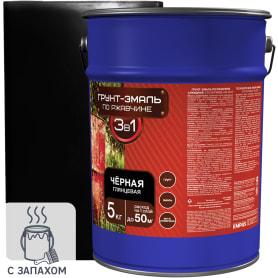 Эмаль-грунт по ржавчине 3в1 цвет чёрный 5 кг