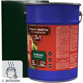 Эмаль-грунт по ржавчине 3в1 цвет зелёный 5 кг