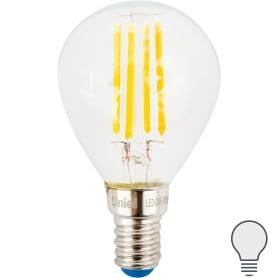 Лампа светодиодная Uniel шар E14 6 Вт 500 Лм, свет холодный