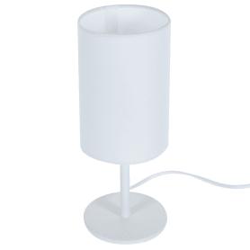 Настольная лампа Nice база 1xE14x40 Вт, металл/ткань, цвет белый