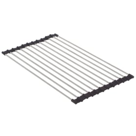 Подставка под горячее/Решётка на мойку NEO, 40х24 см, цвет чёрный, хром
