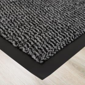 Коврик «Step» полипропилен 120x180 см цвет серый