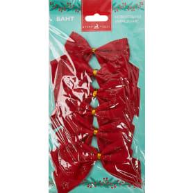 Бант новогодний «Красный в клеточку»