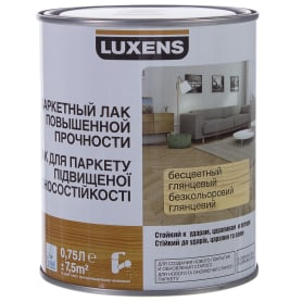 Лак паркететный водный Luxens глянцевый 0.75 л