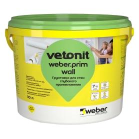 Грунтовка для стен Weber Vetonit Prim Wall 10 л