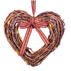 Ёлочное украшение на подвесе «Сердце» 30 см