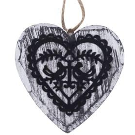 Ёлочное украшение деревянное «Сердце»