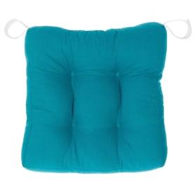 Сидушка для стула 40х40х6 см цвет бирюзовый