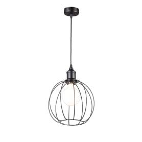 Подвесной светильник Inspire Сфера 1хЕ27х60 Вт металл цвет чёрный