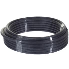 Труба гладкая жесткая ПНД Iek D20 25 м бухта цвет чёрный