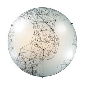 Светильник настенно-потолочный светодиодный Webi 28 Вт, стекло
