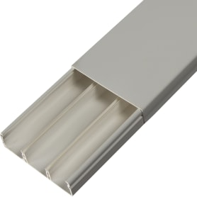 Кабель-канал плинтус T-Plast 74х20 мм 2 м, цвет белый