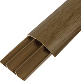 Кабель-канал напольный T-Plast 70х19 мм 2 м, цвет дуб