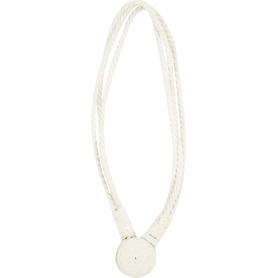 Подхват для штор «Алина» 56 см цвет белый