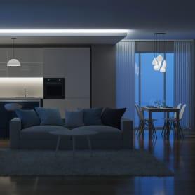 Светодиодная лента для подсветки рабочей зоны SMD 5050 60 диод/700 Лм/10 Вт/м 12 В IP20 5 м холодный белый свет