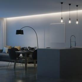 Светодиодная лента для потолка SMD 2835 120 диод/1800 Лм/14.4 Вт/м 12 В IP20 3 м холодный белый свет