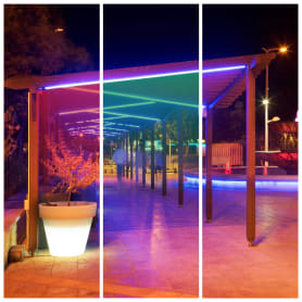 Уличная подсветка 5 м, свет RGB